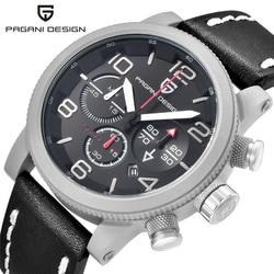 PAGANI DESIGN Top Brand Luxury Men Swimming Quartz Outdoor Sports Watches Military Relogio Masculino Clock With Leather Strap