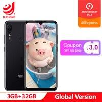 Глобальная версия xiaomi Redmi Note 7 3 ГБ ОЗУ 32 Гб ПЗУ мобильный телефон Snapdragon 660 Восьмиядерный 6,3