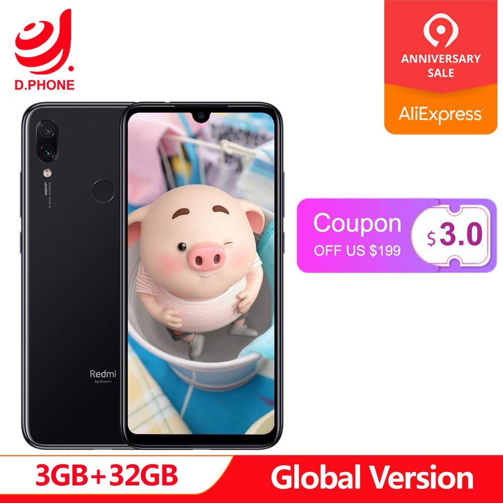 Global Version xiaomi Redmi Note 7 3GB RAM 32GB ROM cellphone Snapdragon 660 Octa Core 6.3 19.5:9 Full Screen 48MP Dual CameraGlobal Version xiaomi Redmi Note 7 3GB RAM 32GB ROM cellphone Snapdragon 660 Octa Core 6.3 19.5:9 Full Screen 48MP Dual Camera