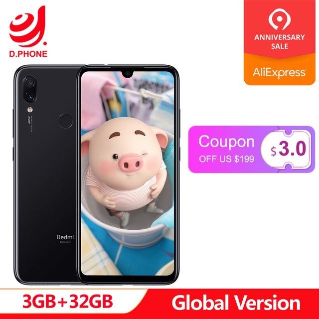 "Global Version xiaomi Redmi Note 7 3GB RAM 32GB ROM cellphone Snapdragon 660 Octa Core 6.3"" 19.5:9 Full Screen 48MP Dual Camera"