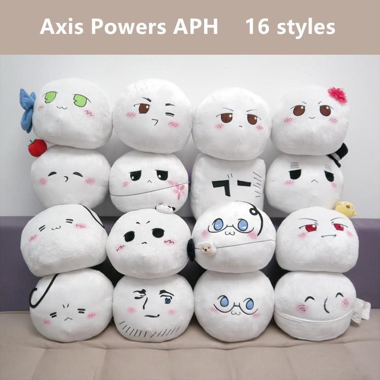 Hetalia: Axis Powers Plush Toys Anime APH Ludwig Kiku Alfred Arthur Russia Cosplay Plush Dolls Pillow 16 Styles Free Shipping