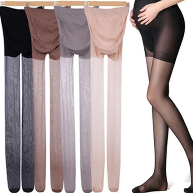 4a271a79df5ea Pregnant women stockings Sheer Plus size Maternity Pantyhose Autumn Spring  Thin solid black leggings for pregnancy