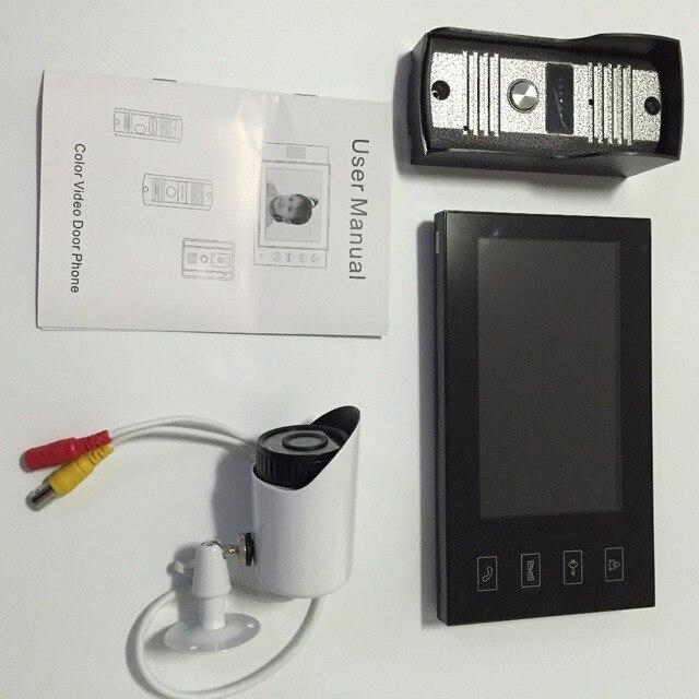 New 7inch TFT Color Video door phone Intercom Doorbell System CCTV 700TVL IR Camera monitor system