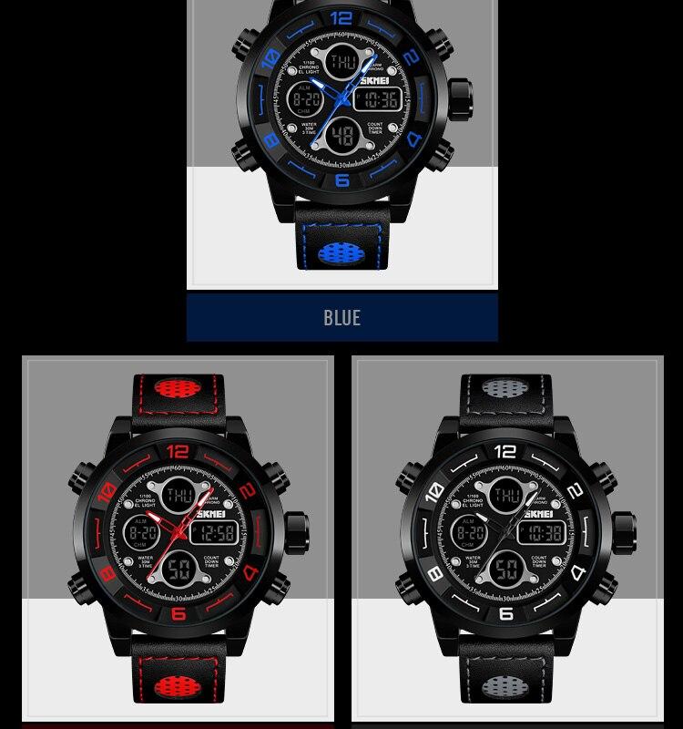 SKMEI 2019 Men\`s Wrist Watches Top Brand Luxury Watch Men Sports Leather Watches Business Digital Watch For Men reloj hombre (4)