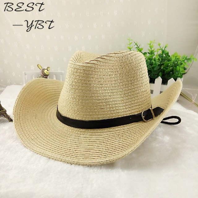 6b4e9df88020f Online Shop Cowboy Men s Spring Summer beach big along the sun folding sun  canopy cool hat sun hat