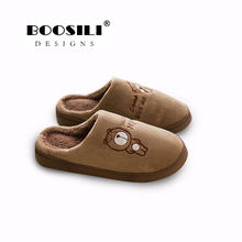 Pantufas Mules Flip Flops 2019 New Warm Winter Cotton Slippers Male And Female Same Style Soft Cashmere Womens Shoes Discount(China)