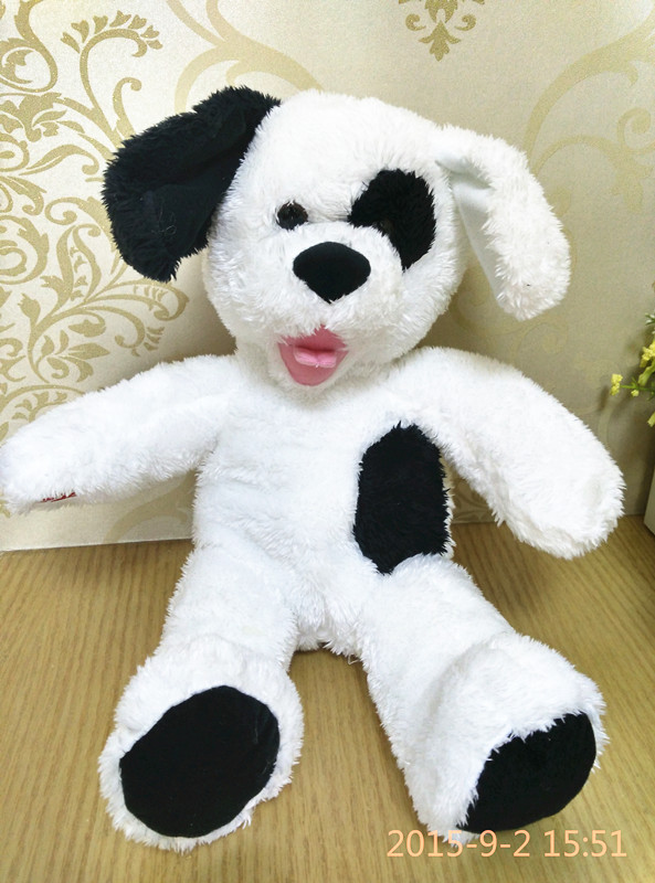 Original New Famous Brand Special Big Love Black and White Dog Puppy Soft Cute Animal Plush Toy Doll Birthday Gift Children Gift original special cartoon mini vintage goofy dog cute soft stuff animal plush toy birthday gift 10cm collection