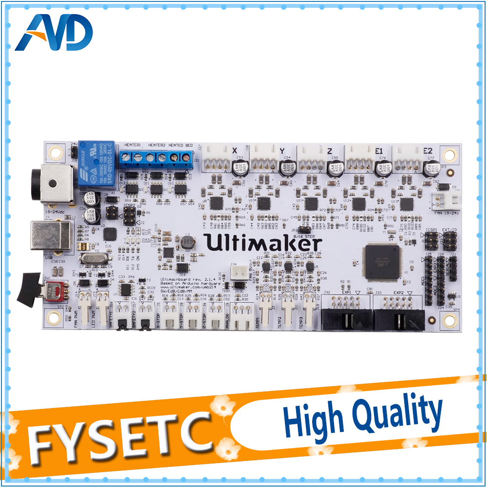 3D Printer Parts 2017 Latest Ultimaker V2.1.4 Control Board Ultimaker 2 Finished Mainboard UM2 Motherboard