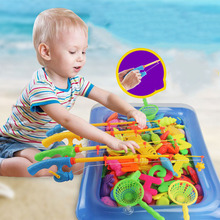 Fishing toys for children magnetic fishing set parents-kids interactive games beach pool outdoor bath toy baby
