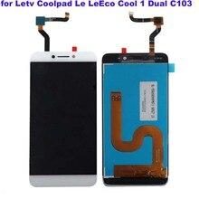 Beyaz orijinal lcd için Letv LeEco Coolpad cool1 serin 1 c103 lcd ekran + dokunmatik ekranlı sayısallaştırıcı grup değiştirme ücretsiz araçları