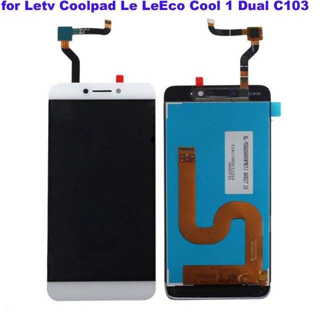 לבן מקורי LCD עבור Letv LeEco Coolpad cool1 מגניב 1 c103 LCD תצוגה + מסך מגע Digitizer עצרת החלפת משלוח כלים