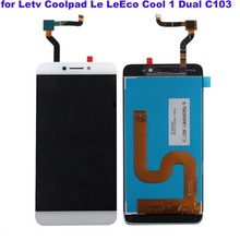 White Original LCD For Letv LeEco Coolpad cool1 cool 1 c103 LCD Display + Touch Screen Digitizer Assembly Replacement free tools