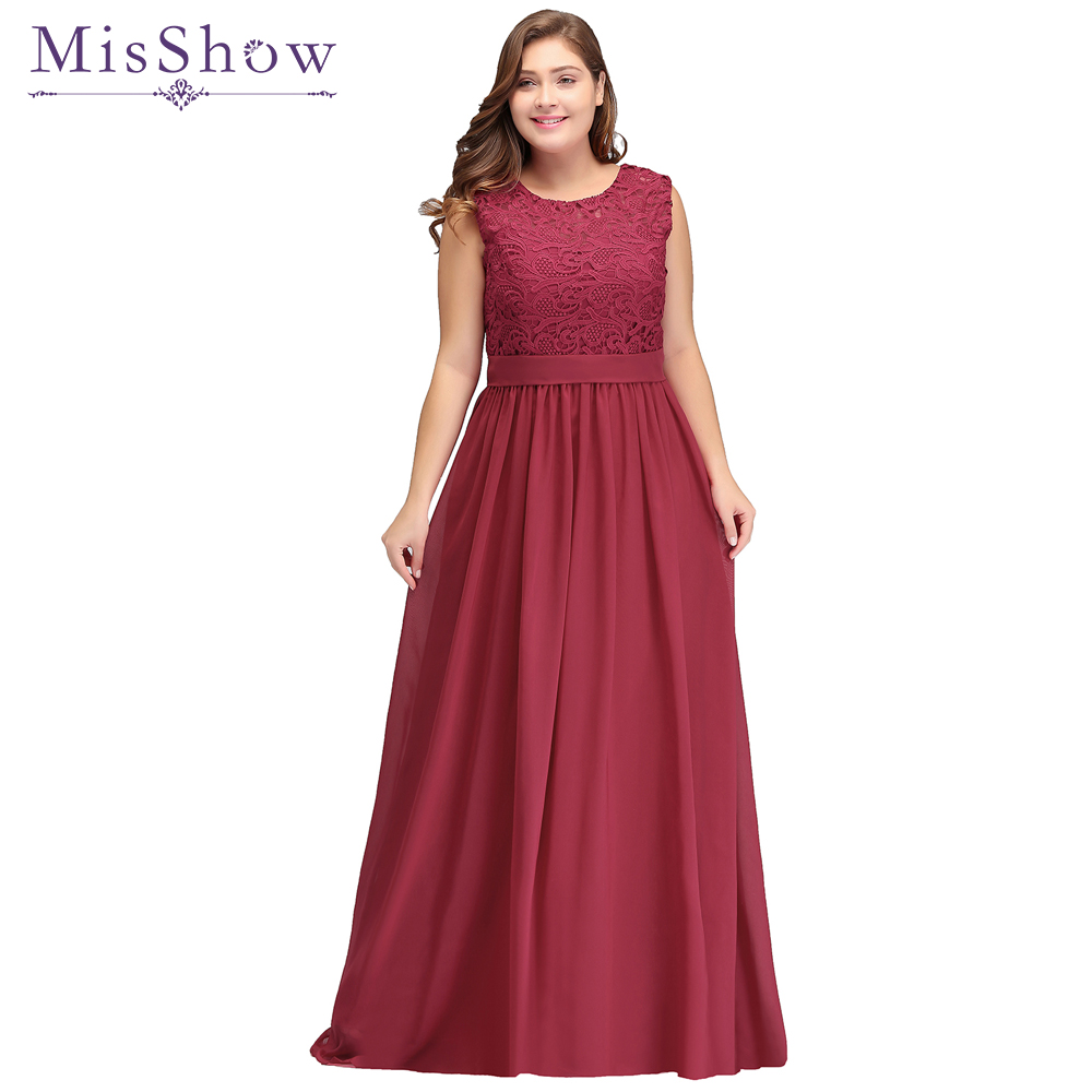 US $49.13 43% OFF|Cheap burgundy Plus Size Evening Dresses Long 2018  Evening Party Gown Scoop Chiffon Zipper Back Women Prom Dress Formal  Dresses-in ...
