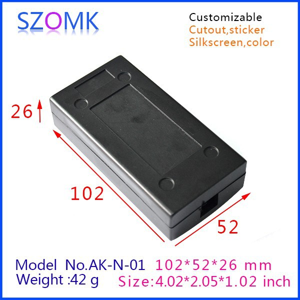 2 pieces a lot  junction box 102*52*26mm 4.02*2.05*1.02inch  abs plastic electronics electronic enclosure design