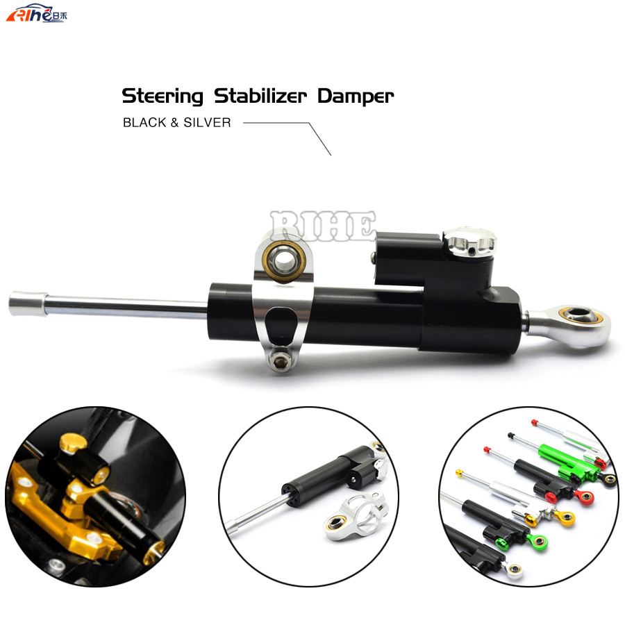 Universal CNC Motorcycle Street Bike Steering Damper Stabilizer Adjustable For BMW S1000RR R1200GS ADVENTURE Honda CB500F MSX125 universal new cnc aluminum motorcycle steering damper stabilizer adjustable for yamaha bmw g310r s 1000 rr s1000rr s1000 r hp4