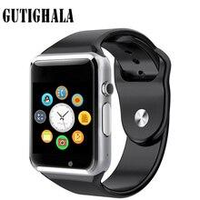 Gutighala A1 Smartwatch Relógio Inteligente Com Câmera Passometer Chamada Do Cartão SIM Para Xiaomi Huawei Telefone Android Melhor Do Que GT08 DZ09