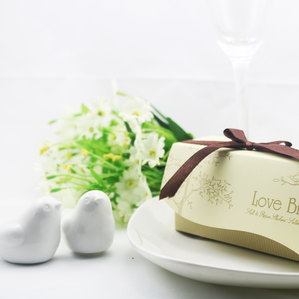 free shipping Love birds ceramic salt and pepper Shaker 200pcs ...