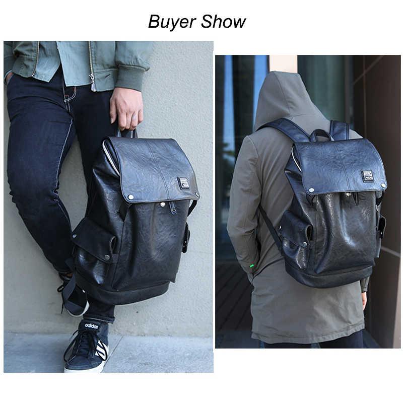 1f1a631d7ffc Новинка 2019 года из искусственной кожи для мужчин рюкзак дорожная сумка  Anti Theft мужской моды водонепроница