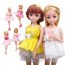 Äkta Lelia mode dockor för flickor gåvor kawaii söt docka Klänning Kläder Tillbehör Set låtsas leksaker för barn barn
