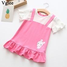 Vgiee Dress for Baby Girls Dresses Summer 2019 Girls Dresses Animals Rabbit Little Girls Clothing CC295