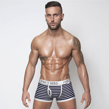 Fashionable sports men's underwear striped men's boxer men p