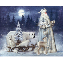 Full diamond rhinestone cross stitch painting 3d drill diy Diamond embroidery Polar bear