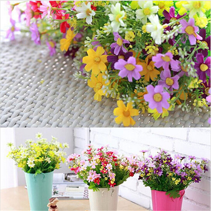 Silk Artificial Flowers For Wedding Home Decoration 28 Heads Fake Daisy Cheap China Real Touch