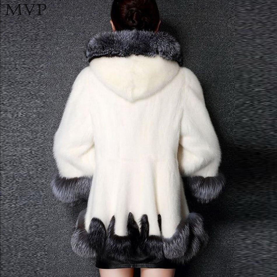 2017 Synthétique Pardessus Veste De D'hiver White Capuchon Faux À Manches Épais Longues Manteau Mode black Femmes Fourrure Outwear Chaud Yv01pq