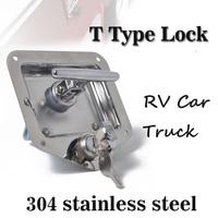 Car Accessories Car lock System T Type Stainless Steel RV Car Handle Locks Truck Panel Latch Toolbox Lock Trailer Camper lock