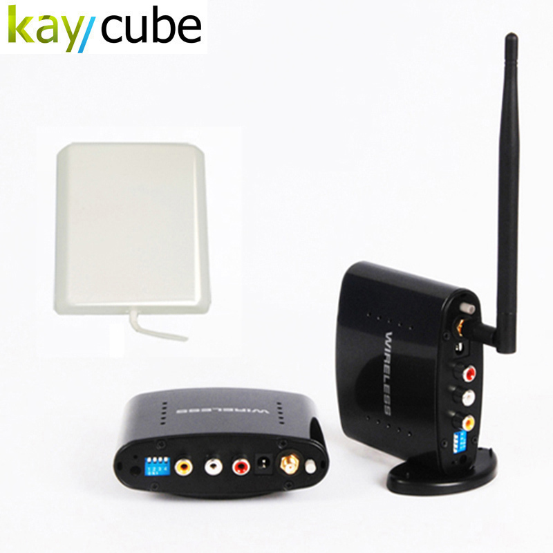 2.4GHz 500m Wireless AV A/V Audio Video Sender Transmitter and Receiver Long Distance With EU US UK AU Plug for PAT370 4 channel 5 8g wireless av transmitter and receiver a v audio video sender 200m tv signal receiver rca transmitter