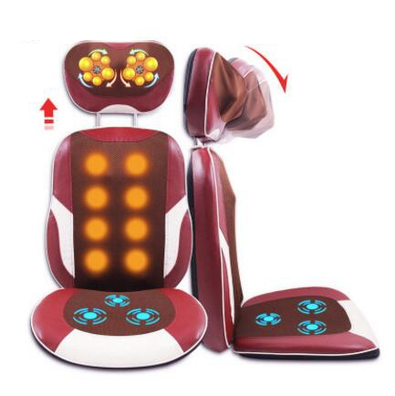 6D Electric Back Massager Vibration Cervical Vertebra Massage Device Health Care Relax Muscle Neck Body Massage Chair Cushion 2017 hot sale mini electric massager digital pulse therapy muscle full body massager silver