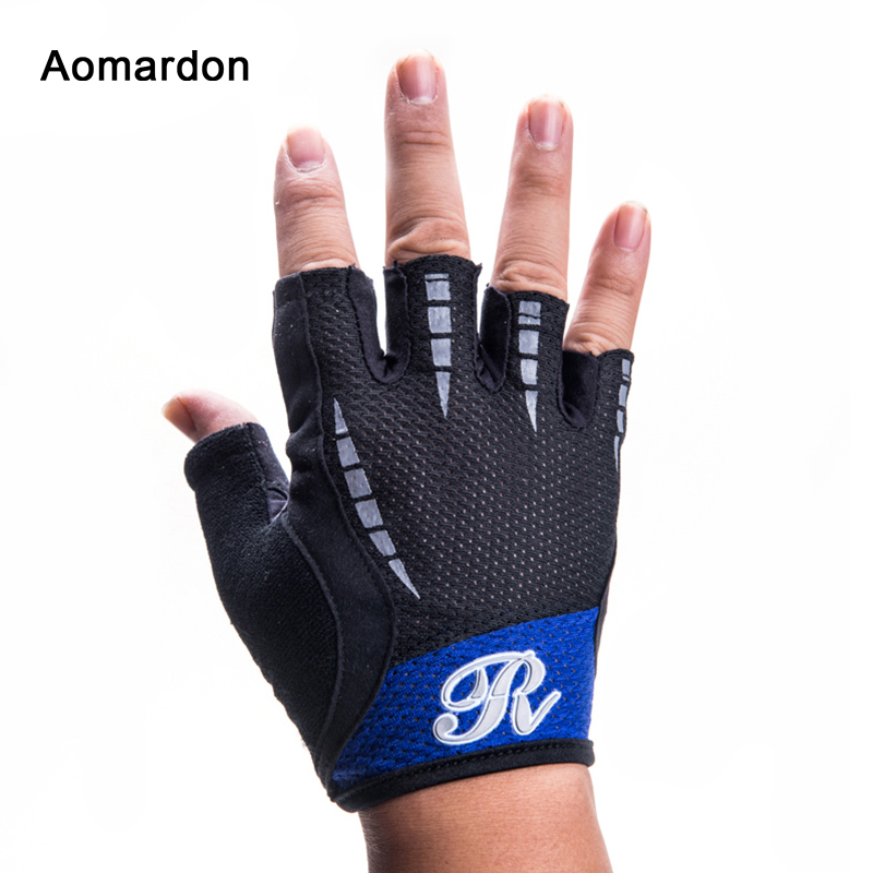 Unisex Weight Lifting Gloves Half Finger Body-Building Exercises Anti Slip Cycling Mountain Bike Bicycle Gloves