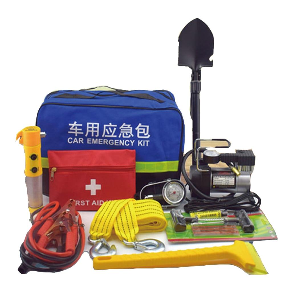 Автомобиль Аптечка автомобиль воздушный насос набор инструментов для автомобиля