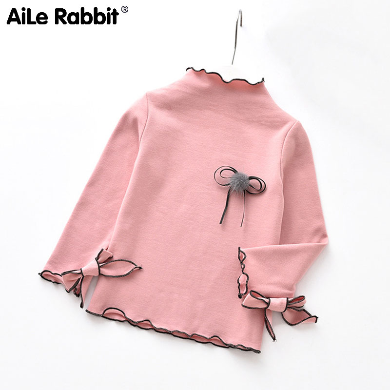 Sweater Autumn Long-Sleeved T-Shirt Clothing Tops Girls Fashion Children's Rabbit Wild