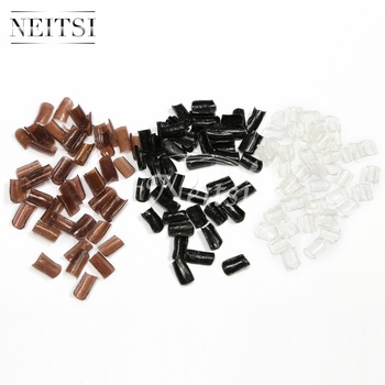 Neitsi Super Nail Keratin Glue Stick Nail Tip Keratin U-Shaped For Fusion Keratin Nail Tip Hair Extension 50pcs/pack 3 Colors