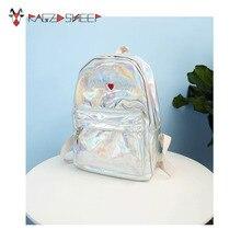 Бушевали Овцы PU Для женщин рюкзак Обувь для девочек Лазерная рюкзак элегантный дизайн Школьные сумки для подростка Обувь для девочек розовый серебряный путешествия рюкзак