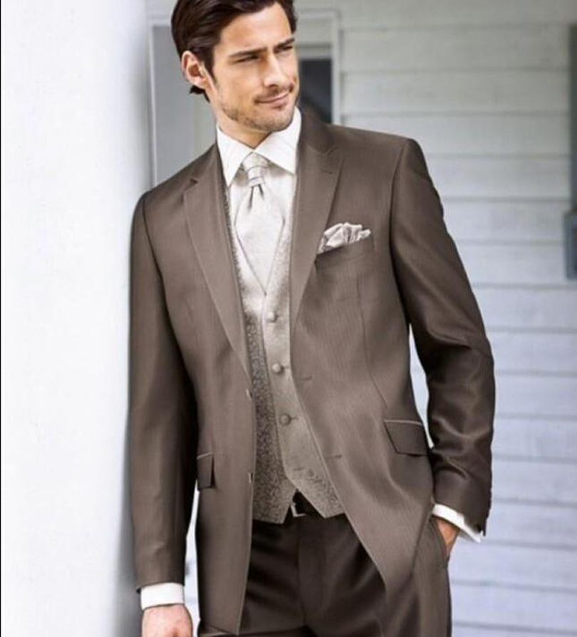 Brown Groomsmen Suits Dress Yy