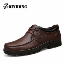 Hiver Ajouter Fourrure Zapatos Hombre Tops Hommes Chaussures Hommes Casual Chaussures à Lacets Bottes En Cuir Véritable Noir Cheville Chaussons Casual Bottes