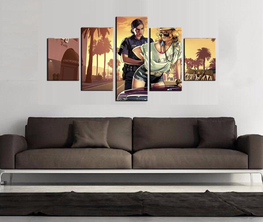 unidades de impresin hd grand theft auto juego moderno para el hogar decoracin de pinturas al leo sobre lienzo arte de la p