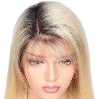 Beeos # 1bT #613 бесклеевого натуральные волосы парик с ребенком волос предварительно сорвал бразильский Волосы remy Ombre блондинка натуральные воло
