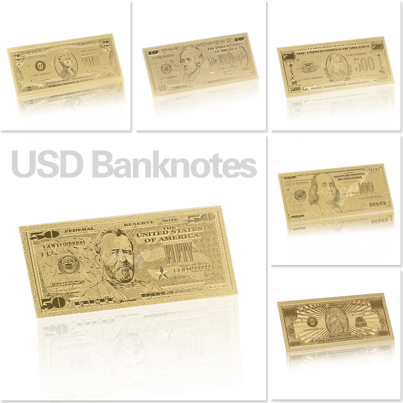 Dropshipping New USD100 Dollar Bill Gift 24K American Gold Foil Banknote Replica Fake Banknotes Album Money Home Decoration Gift