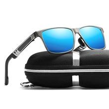 الرجعية الألومنيوم المغنيسيوم النظارات الشمسية الرجال عدسات قطبية Vintage نظارات شمسية الكلاسيكية للرجال النساء نظارات اكسسوارات الأصلي