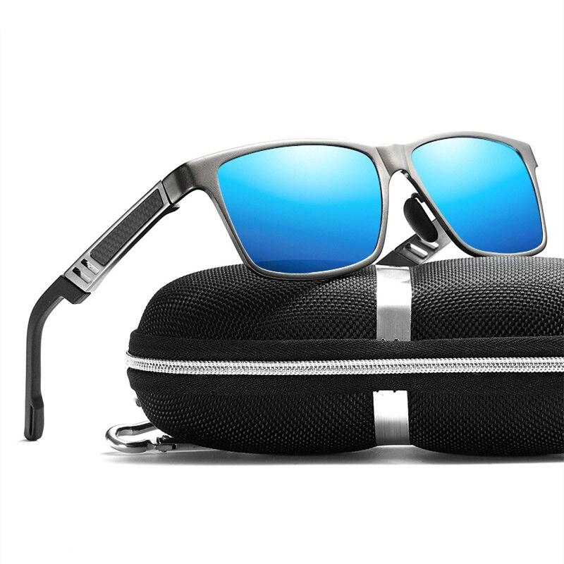 Retro Aluminum Magnesium Sunglasses Men Polarized Lens Vintage Classic Sun Glasses For Men Women Eyewear Original Accessories-in Men's Sunglasses from Apparel Accessories