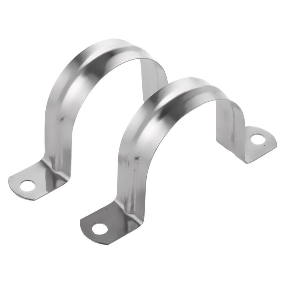 2 Stainless Steel U shaped Pipe Clamps, Half Pipe for Pipe ...