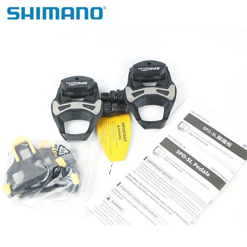 SHIMANO PD R550 SPD-SL en résine de carbone Composite pédales de route crampons vélo auto-verrouillage vélo pédales pièces 2018