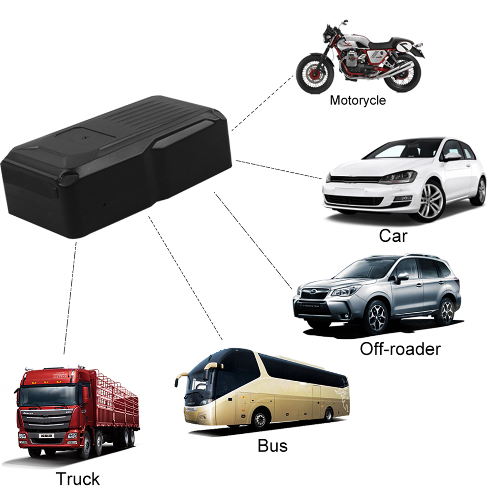 Waterproof Car GPS Tracker Vehicle Tracker GPS Locator Magnet Standby 30Days Real Time LBS Position Lifetime Free Platform цена