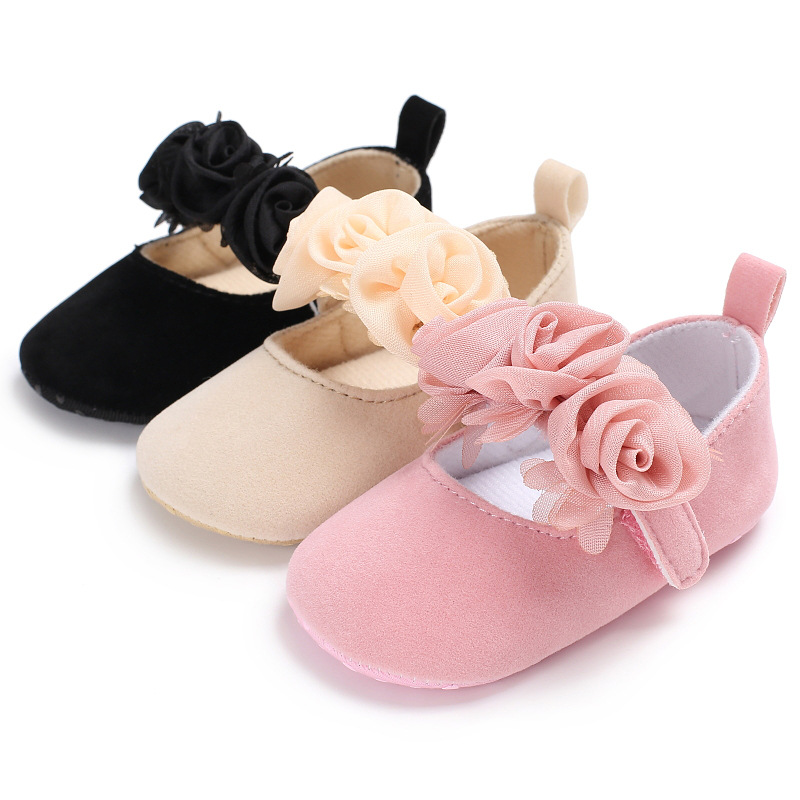 Spring fall flower style cotton farbic baby girl princess dress shoes mary jane cute baby shoes 0-18M baby moccasin shoes