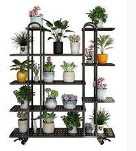 купить Flower shelf indoor living room balcony shelf multifunctional wrought iron multi-layer floor multi-grain green dew simple pot ra по цене 6447.99 рублей
