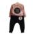 Ropa de las muchachas Fija 2016 Activo Trajes Niñas Ropa de Manga Larga Con Capucha + Pantalones 2 Unids Ropa Niños Establece Los Niños 3-7Y trajes