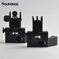 45 Degree Off Front Rear Set BUIS Flip Up Back Up Side Iron Sight Fit 20mm
